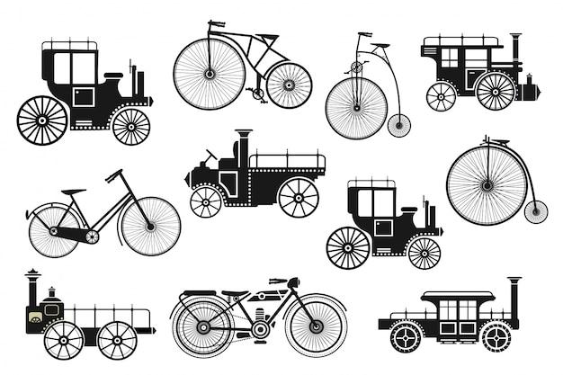 Retro motorrad fahrrad