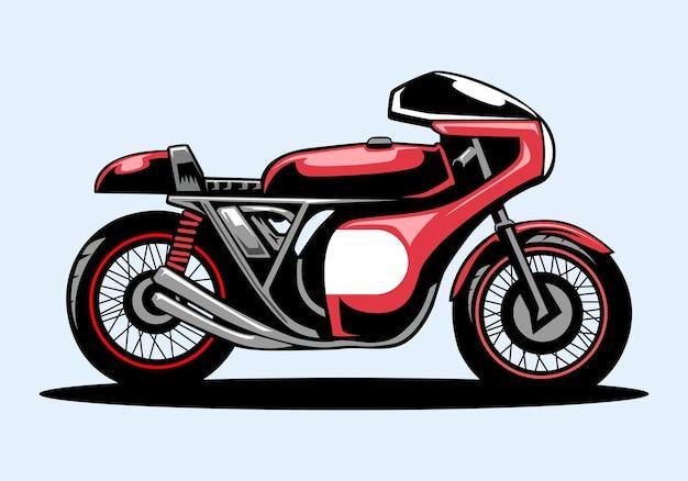 Retro-motorradrennfahrerillustration