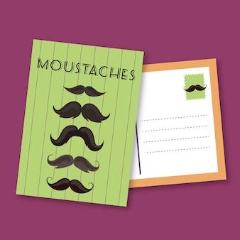 Retro movember postkarte