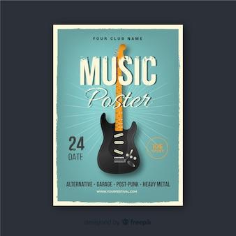 Retro musik plakat vorlage