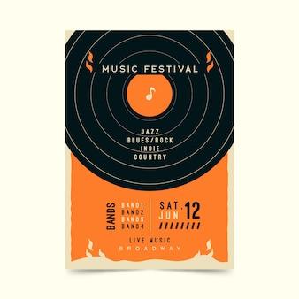 Retro musikfestivalplakat