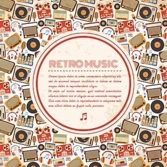 Retro musikplakat