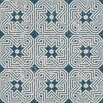 Retro-muster mit spiralförmiger kreuzgeometriekette