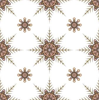Retro- nahtloser dekorativer blumenhintergrund