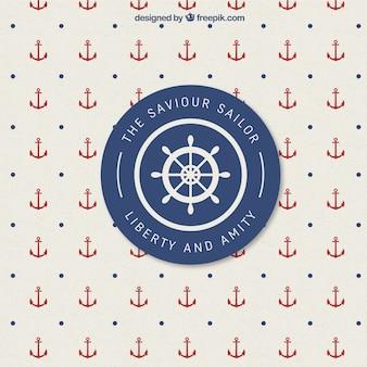 Retro nautischen abzeichen