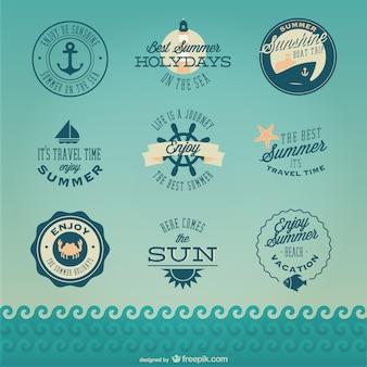 Retro nautischen Kreuzfahrt Abzeichen