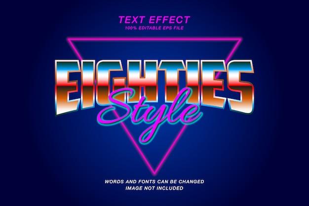 Retro neon text effekt