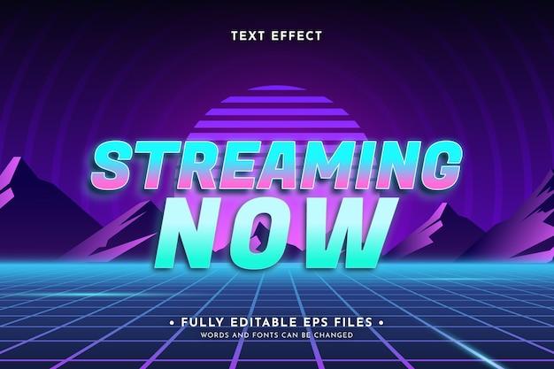 Retro-neon-texteffekt-design