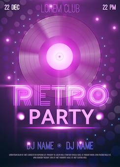 Retro party club poster