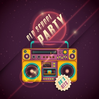 Retro party hintergrund