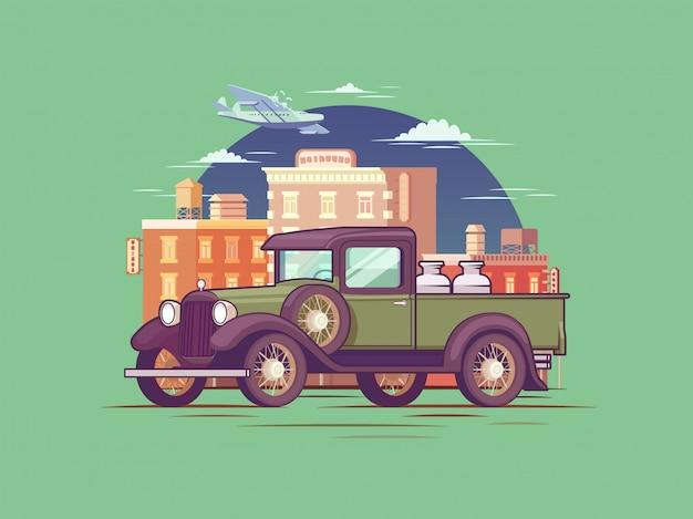 Retro pickup truck konzept