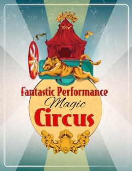 Retro plakat des zirkusses