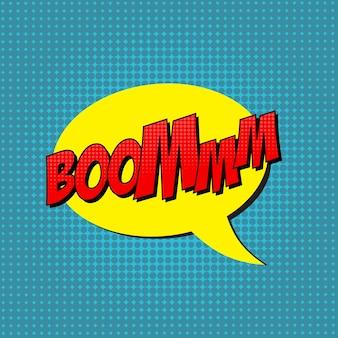 Retro pop art comic shout nahtlose muster