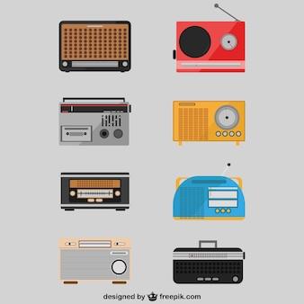 Retro-radio setzt zeichnungen
