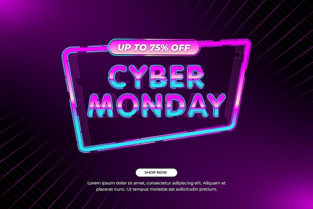 Retro realistische technologie cyber monday sale