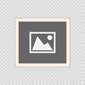 Retro realistischer vektorfotorahmen, schablonenfotoauslegung. isoliert auf transparentem hintergrund
