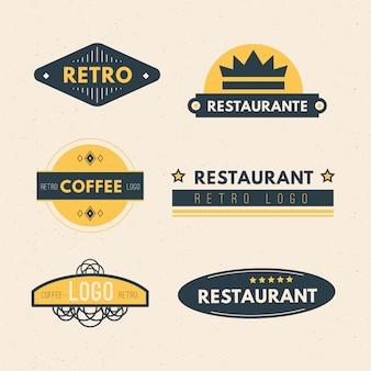 Retro restaurant-logo-auflistung