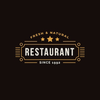 Retro restaurant logo