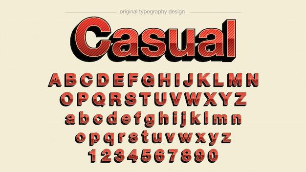 Retro roter mutiger typografie-entwurf
