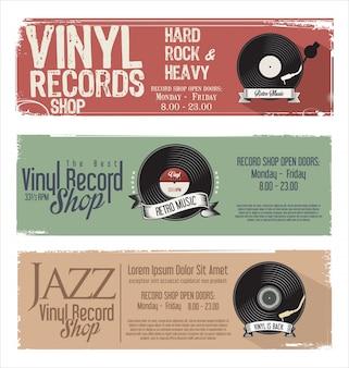 Retro- schmutzfahne des vinylsatzgeschäfts