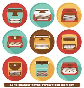 Retro schreibmaschinen-icons