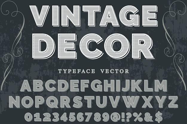 Retro-schrift-label-design-dekor