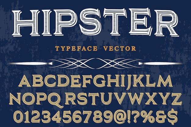 Retro schriftart label design hipster