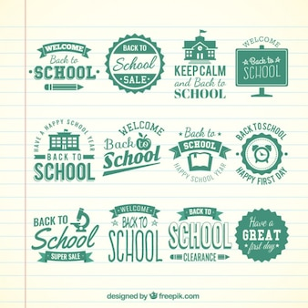 Retro schule abzeichen