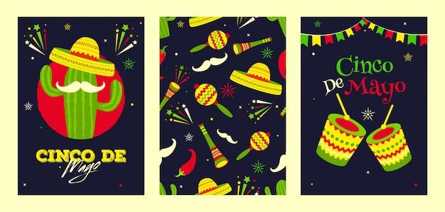 Retro schwarzes hintergrundtitelfahnen- oder -plakatdesign