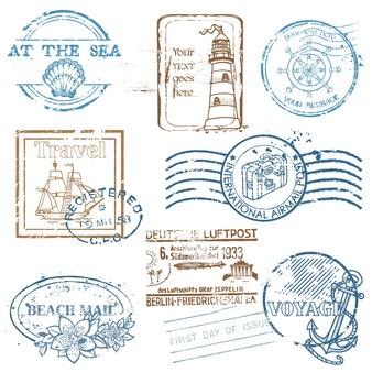 Retro sea briefmarken