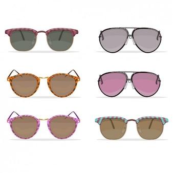 Retro sonnenbrille-sammlung