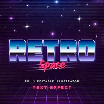 Retro space text-effekt