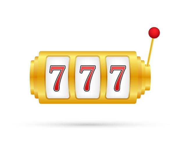 Retro spielautomat mit glücklichem siebener jackpot