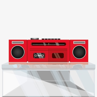 Retro stereo kassettenrekorder, kassettenrekorder