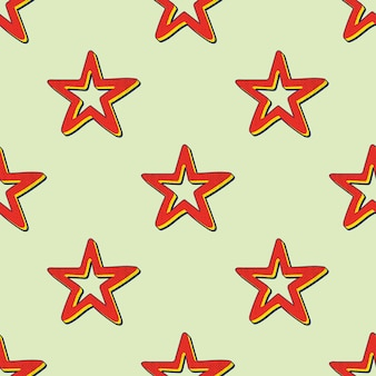 Retro-sternenmuster, abstrakter geometrischer hintergrund im stil der 80er, 90er jahre. geometrische einfache illustration