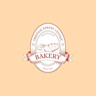Retro-stil für bäckerei-logo