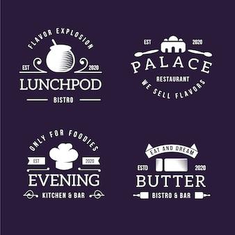 Retro-stil für logo-sammlung
