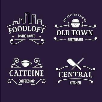 Retro-stil für logo-set
