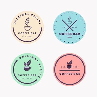 Retro-stil für minimale logo-sammlung