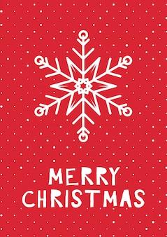 Retro stil weihnachtskarte