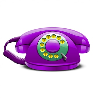 Retro stilisiertes telefon