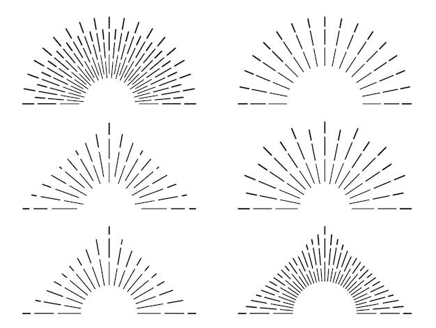 Retro sunburst frames