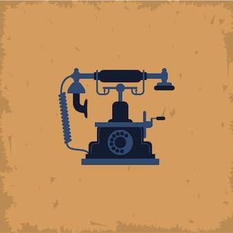 Retro telefon auf vintage hintergrund