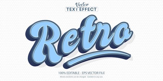 Retro-text, minimalistischer bearbeitbarer texteffekt im retro-stil