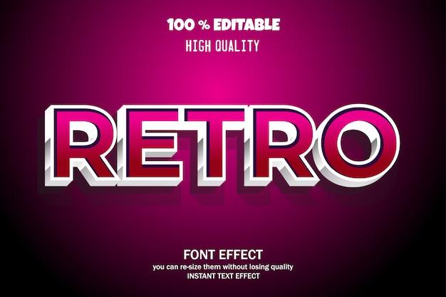 Retro-text-stil, bearbeitbare schrift-effekt