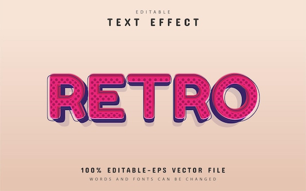 Retro-texteffekt editierbar