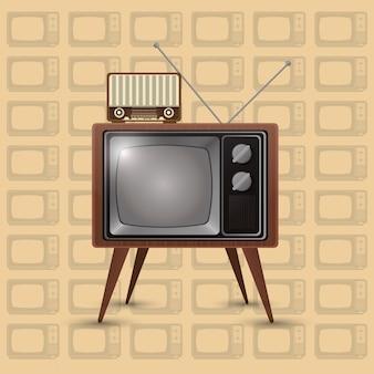 Retro tv emblem bild