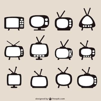Retro tv-geräte-pack