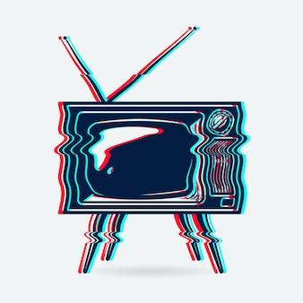 Retro tv-objekt