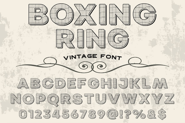Retro typografie design boxring